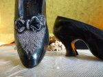 pumps 1904, shoes 1904, antique pumps, antique shoes, edwardian shoes, antique evening shoes, antieke schoenen, chaussurees ancienne