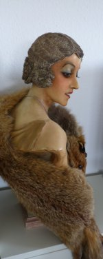 Flapper Cloche, flapper headpice, french silver Bullion Hair Cloche