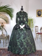 13 antique reception gown 1856