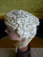 7 antique wedding bonnet 1850