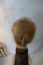 9 antique wax head piece 1920