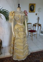 20b antique evening gown Duval Eagan 1889
