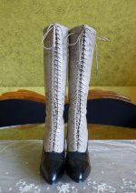 2 antique knee boots 1905