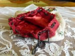 6 antique beaded purse