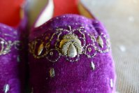 4 antique boudoir slippers 1885 1900