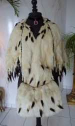 1 antique ermine cape