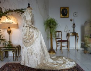 antique bustle wedding gown 1879