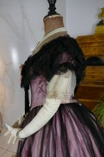 16 antique crinoline ball gown 1855