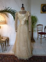 2 antique evening gown JEANNE HALLE 1899