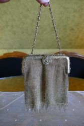 antique metal mesh purse 1915