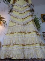 7 antique reception gown