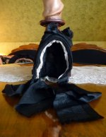 16 antique mourning bonnet