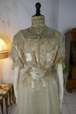 3 antique ball gown 1900
