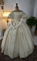 3 antique ball gown 1859