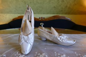 antique evening pumps 1885