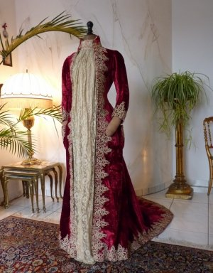 antique dress gown