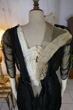 43 antique dinner dress Hamburg 1906