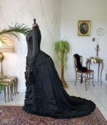 23 antique mourning dress 1879