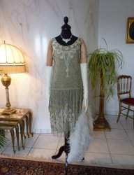 antique flapper dress 1925
