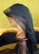 6 antique mourning hat 1910