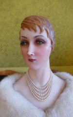 4 antique wax Bust 1920
