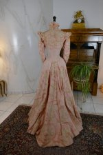26 antique Rousset Paris society dress 1899