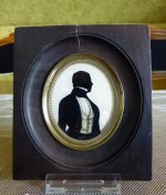 1 antique silhouette Miniature 1845