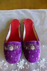 antique boudoir slippers 1885 1900
