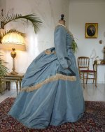 15 antique reception gown 1865