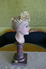 10 antique wax headpiece 1880
