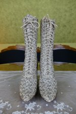 2 antique lace up boots 1895