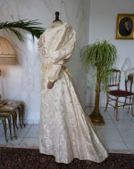 51 antique bridal gown 1895