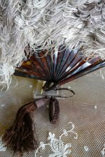 3 antique feather fan 1890