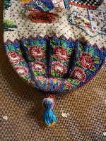 13 antique beaded Purse 1825