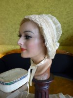 10 antique wedding bonnet 1840