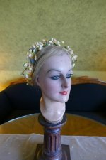 9 antique wax crown 1880