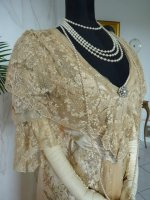 15 antique evening gown Worth 1910