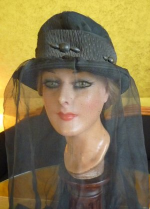 antique mourning hat 1910