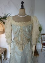 10 antique evening gown Worth 1894