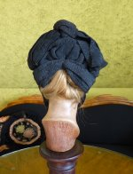 8 antique mourning bonnet