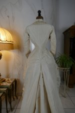 19 antique wedding dress 1878