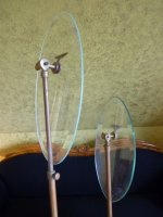7 antique glass shoe stands 1900