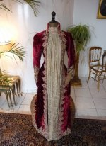 3 antique dress gown