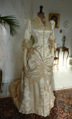 16 antique bustle wedding gown 1879