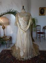 22 antique evening dress WORTH 1898