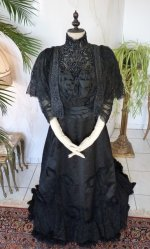 2 antique Worth evening dress 1898