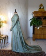 18 antique silk dress 1800
