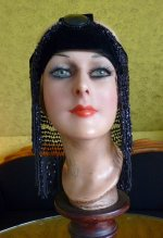 3 antique flapper headpice 1920