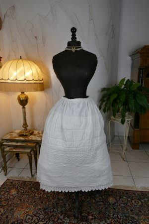 antique Biedermeier Petticoat 1840