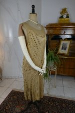 32 antique beaded flapper evening dress 1922